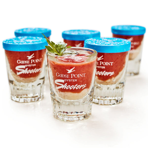 Goose Point Oyster Shooters, serving suggestion