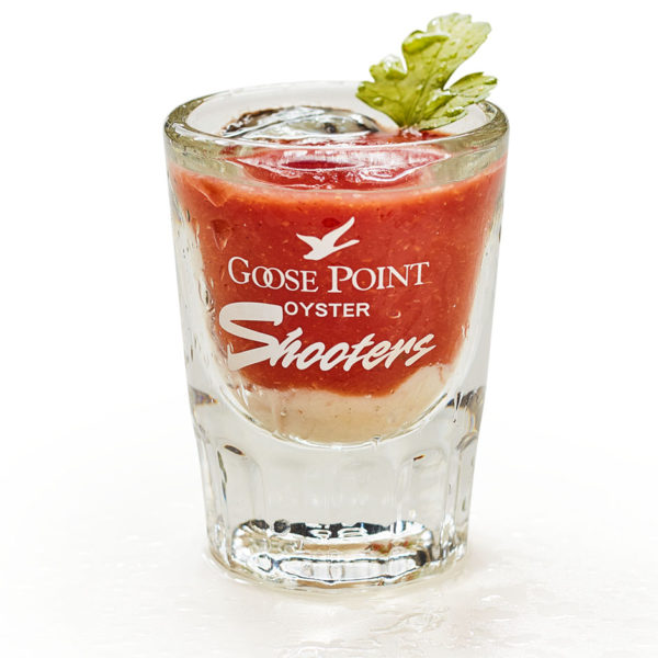 Goose Point Oyster Shooter, serving suggestion