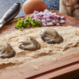 Goose Point Shucked Oysters, in Goose Point breading, serving suggestion