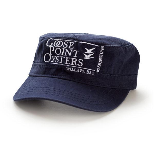Goose Point Flat Hat navy-white