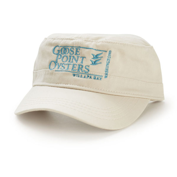 Goose Point Flat Hat tan-blue